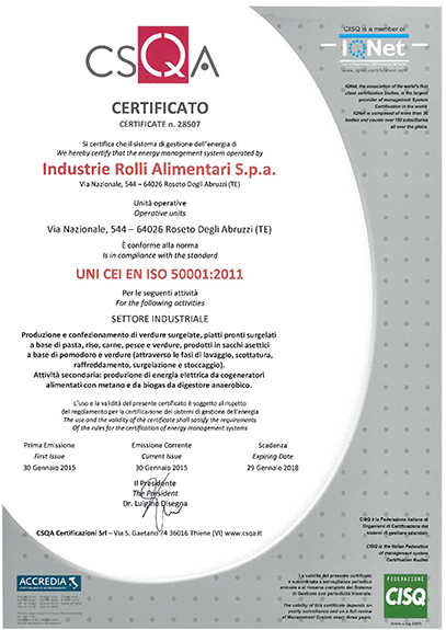ENERGY MANAGEMENT SYSTEM CERTIFICATION